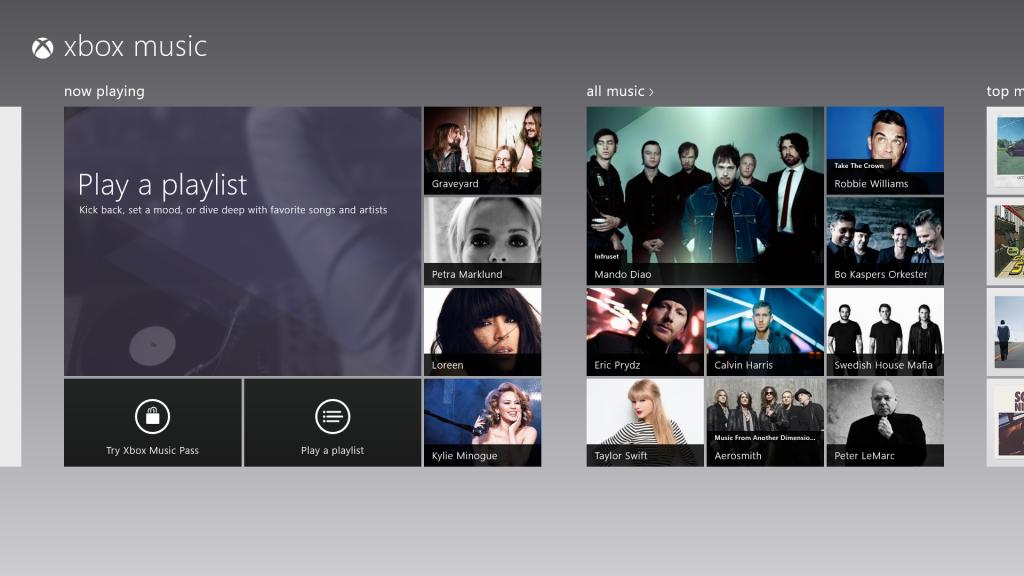 Xbox Music start